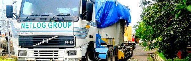 Inland Transportation & Handling (Jacking, Rolling) Trafo of PT Bambang Djaja