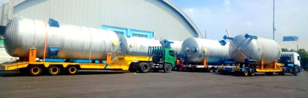 Inland Transportation 3 unit of Tank from Pelabuhan Jamrud Surabaya to PT Wilmar Gresik